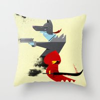 Red Hood & The Badass Wo… Throw Pillow