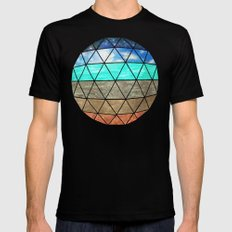 Elemental Geodesic  Black SMALL Mens Fitted Tee
