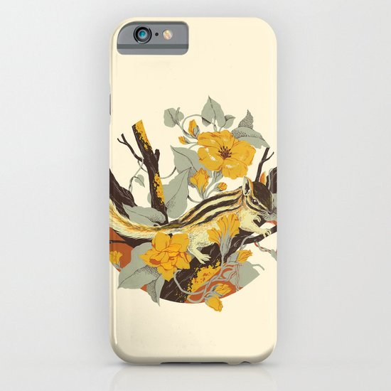 Chipmunk & Morning Glory iPhone & iPod Case