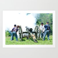 Civil War Era Canon Fire Art Print