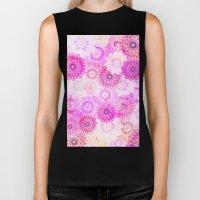 Mandala Flowers in a Colorful Pattern Biker Tank