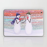 Snowmen With Popsicles Laptop & iPad Skin