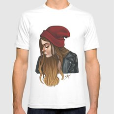 Portrait SMALL Mens Fitted Tee White