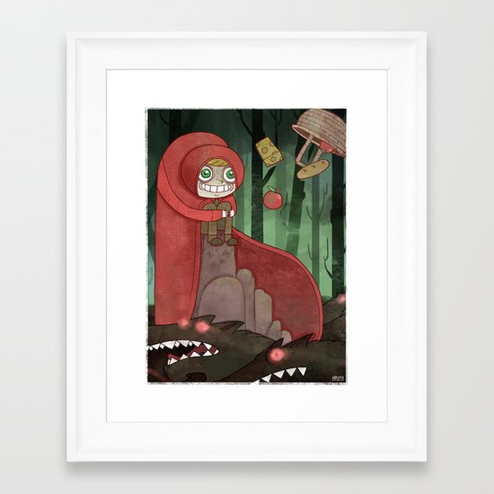 Miss Red's Mad Adventure Framed Art Print