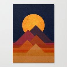 Full moon and pyramid Canvas Print