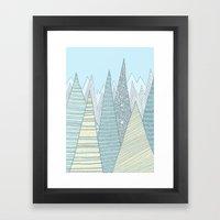 Summer Mountains Framed Art Print