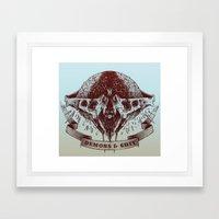 Demons And Shit Framed Art Print