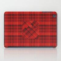Plaid Pocket - Red iPad Case