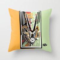 Oryx the Gemsbok Throw Pillow