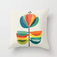 Whimsical Bloom Throw Pillow
