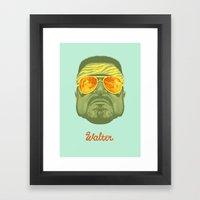 The Lebowski Series: Walter Framed Art Print