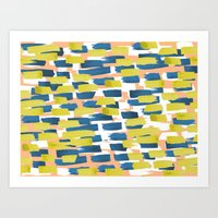 Beach Stripe Art Print