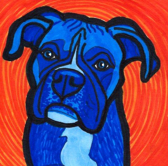 Blue Boxer Art Print