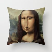 Mona Lisa Throw Pillow
