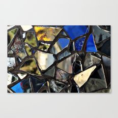 Closeup (PHOTO) of a Glass Mosaic Canvas Print