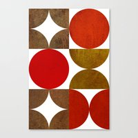 Retro Art And Texture Canvas Print