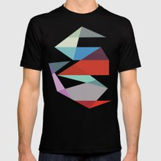 Shapes 015 SMALL Black Mens Fitted Tee