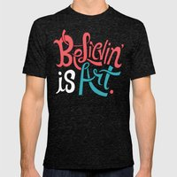 Believing Is Art Mens Fitted Tee Tri-Black SMALL