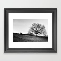leaves and tears are made to fall Framed Art Print