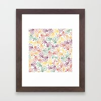 Whimsical Bicycle Patter… Framed Art Print