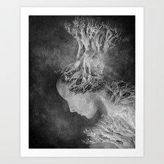 Dark portrait II Art Print