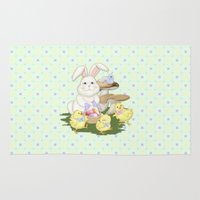 White Rabbit And Easter … Rug