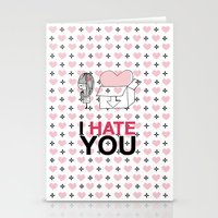I Hate You / Box Stationery Cards