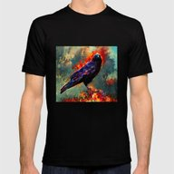 Three Eyed Crow Mens Fitted Tee Black SMALL