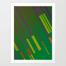 Canopus Green Orange Art Print