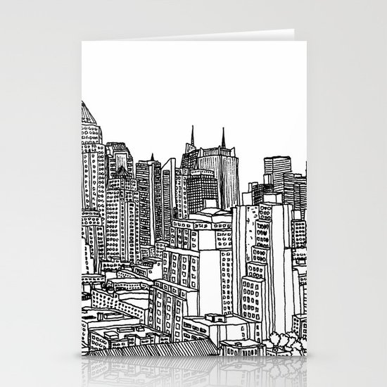 New York View 2 Stationery Card