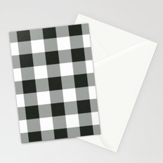 Buffalo Check in black Stationery Cards