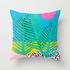 Mondo - 80's retro throwback memphis art print 1990's millennium gen x generation y dots grid  Throw Pillow