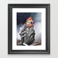 Heart On The Rocks Framed Art Print