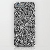 grayscale treemap mosaic - high contrast iPhone 6 Slim Case