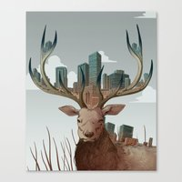 Unwelcome Visitor Canvas Print
