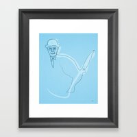 One Line Magritte Framed Art Print