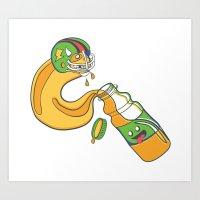 The Sports Drinker Art Print