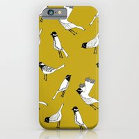 Bird Print - Mustard Yellow iPhone 6 Slim Case