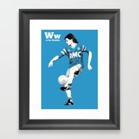 W Is For Waddle Framed Art Print
