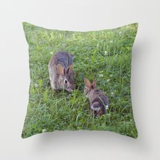 Bunny Love (Mama And Bab… Throw Pillow
