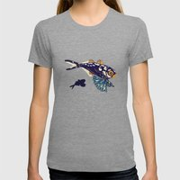 Ocean Fish Womens Fitted Tee Tri-Grey SMALL
