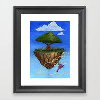 Eden Rises Framed Art Print