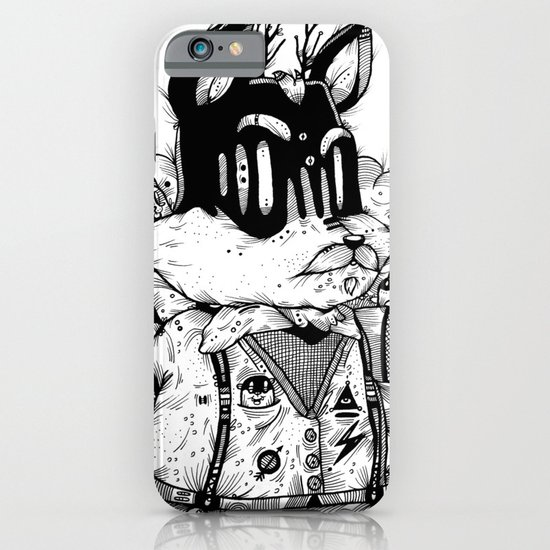 Watch & Learn Dear Creatures (Black & White Version) iPhone & iPod Case