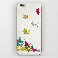 cranes origami iPhone & iPod Skin