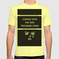 Coping With The Very Troubled Child Mens Fitted Tee Lemon SMALL