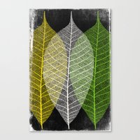'Natural Dry Leaves' Canvas Print