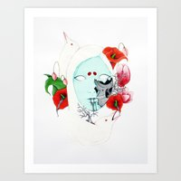 Albino Crows Art Print