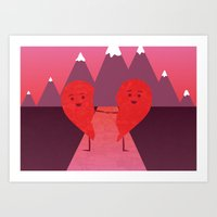 The Course of Love Art Print