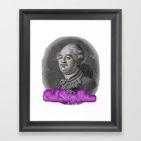 Cool Story King Louis XV… Framed Art Print