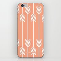 Peach and White Arrows /// www.pencilmeinstationery.com iPhone & iPod Skin